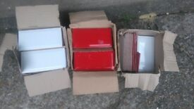 Red and White Ceramic Metro Tiles