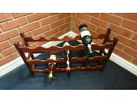 Vintage /retro wine rack in teak