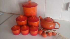 LE CREUSET collection all excellent condition kitchen cooking including teapot