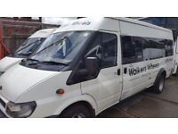 driver and minibus 16 seats for hire gloucester