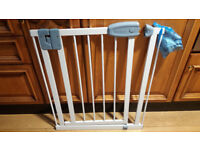 TipppiToes Pressure Fit Adjustable Swing Open Baby Safety Gate - Stair Gate