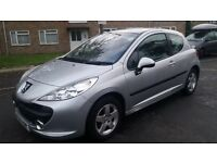 1.4 peugeot 207 manual 2006 year 105000 mile mot 8/9/17 history 3 month warranty 12 month aa cover