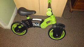 Kool green and black Balance bike