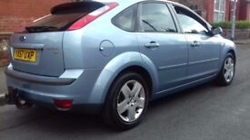 "FORD FOCUS 1.8 STYLE 5 DOOR BLUE 2007 ""LOW MILES+TOWBAR"""