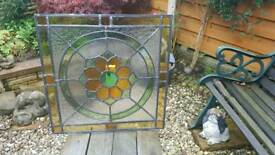 Stained glass leaded panel ( New)