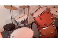 Full Premier Drum Kit with Paiste Crash Cymbal
