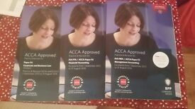 """BPP ACCA Books """"Practice & Revision Kit"""", F2/F3/F4 Brand new"""