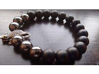 Natural stone bracelet for man