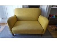 Yellow love seat sofa from m&s. A few years old but great cond. Selling to make room for sofabed.