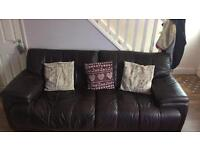 Large brown sofa and chair. Free