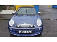 2004 04 MINI COOPER 1.6 CONVERTIBLE ** ONLY 47200 MILES ** 12 MONTH MOT ** REAL EYE CATCHER **
