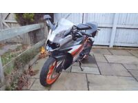 KTM RC 125 (only 110 miles!!)