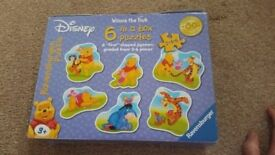 RAVENSBURGER DISNEY WINNIE THE POOH 6 IN A BOX PUZZLES, 2, 4, 6, PIECES 3+