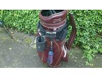 Hot z vintage golf bag and trolley