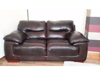 **REDUCED** Brown leather sofa. Excellent condition £100 ONO