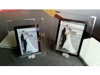 2 wedding photo frames