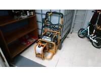 Mitsibushi Evolution petrol generator with pressure washer attachment