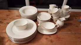 Royal doulton platinum rim dinnerware set