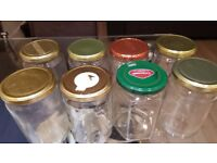 8 x 1kg Glass Jars