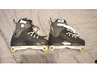 Razors Genesys 7.2 Aggressive Skates Custom Black/Grey Jug Liners 50/50 Frames Size 13