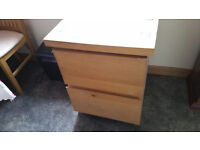 solid beech file cabinet