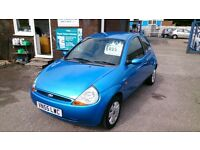 2005 (55) FORD KA 1.3 COLLECTION MET BLUE JULY 2017 MOT ONLY 68K WITH S/H HAS CD R/C/L 2 KEYS E/W +