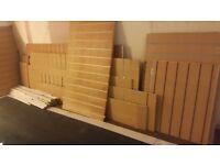 Slatwall Shop fitting/display panels x14