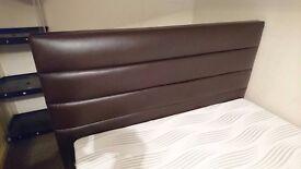 Brown bed frame