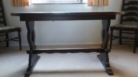 Dark Wood Extending Dining Table ONLY (NO CHAIRS)