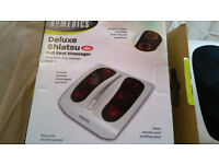 Unused Homedics Deluxe Shiatsu Foot Massager With Heat for sale