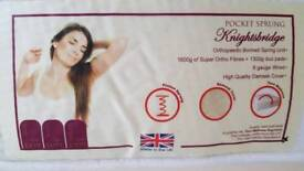 200x80cm (small single) pocket sprung mattress in new condition