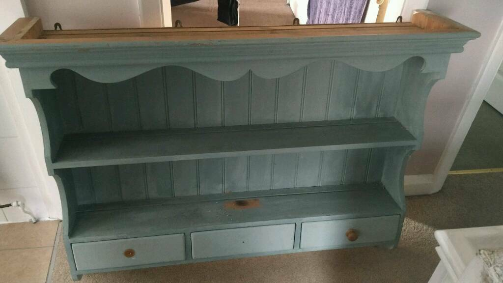 Dresser top/book shelf/wall storagein Spondon, DerbyshireGumtree - Dresser top/wall storage. Has been painted but needs redoing and needs new handles. Very solid and had three draws