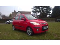 **12 MONTHS MOT**2010 HYUNDAI I10 1.2 COMFORT 5 DOOR HATCHBACK**NEW CLUTCH+ORIGINAL OWNER+FSH!!!!**