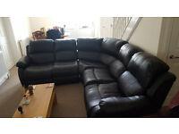 Mint condition Leather Corner Sofa