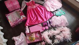 Girls job lot of pink dressup dresses