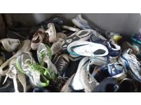 joblot of 25kg of mixed shoes