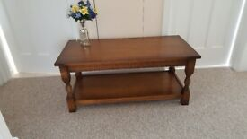 Oak two tier coffee table in very good condition