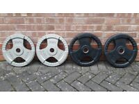 20KG OLYMPIC WEIGHT PLATES - VARIOUS BRANDED - 2 Inch holes
