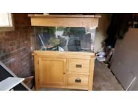 Oak cabinet fish tank