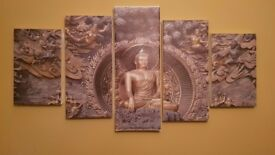 5 Piece Buddha Framed Painting