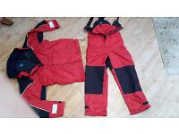 XM Yachting Coastal M Red Salopettes and jacket.