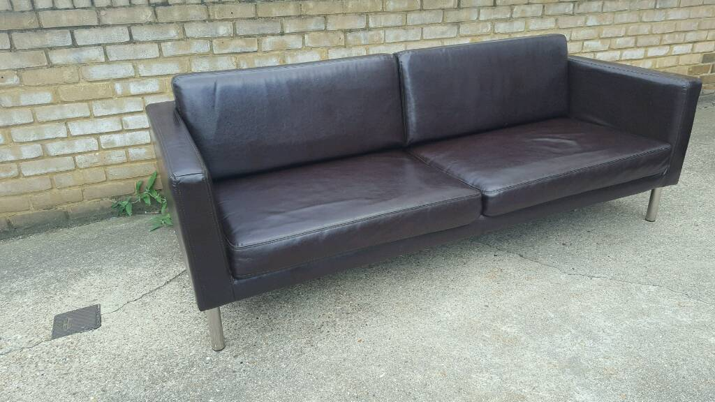 Three Seater Leather Sofa In Plaistow London Gumtree