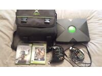 Original Xbox Console Black plus 11 games