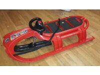 BRAND NEW, BAGGED Large Red snow sledge toboggan, sled