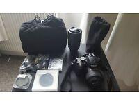 Nikon D3200 + 2 lens+ Kit