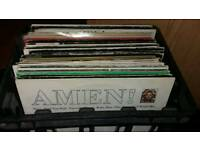 "Crate of 70 dance 12"" vinyl records"