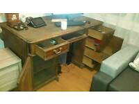 Antique solid desk oakwood