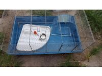 Rat or guinea pig cage with accessories