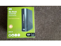 Western Digital Hard drive 500gb - excellent condition fully working including all cables