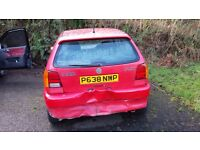 1996 VW Polo, SPARES AND REPAIRS, rear end damage, panel damage, molded interior, no MOT,engine good